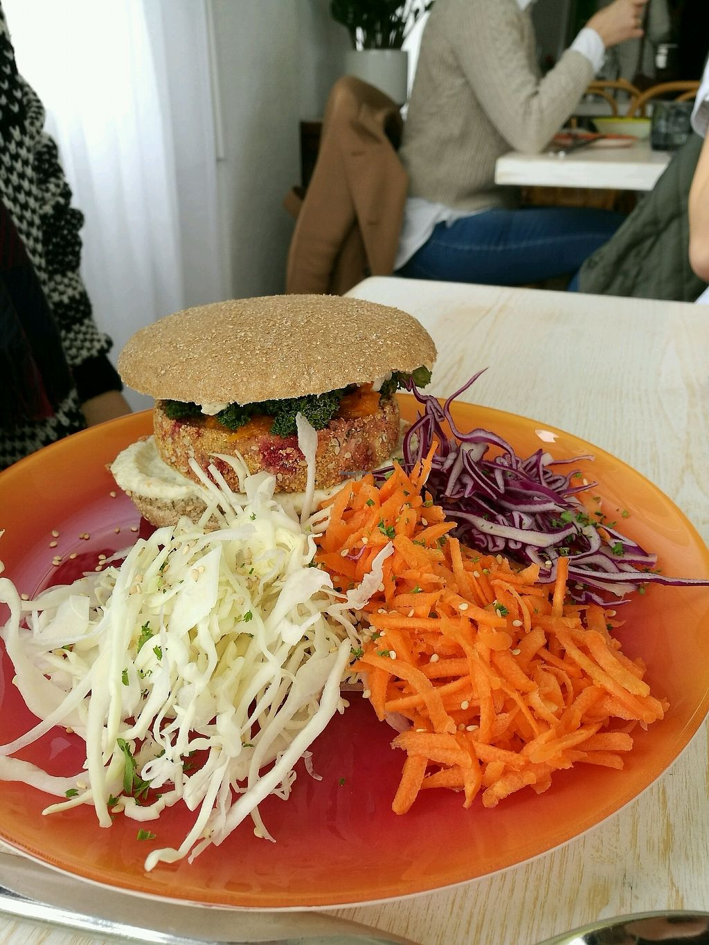 """Photo of Eat.eco  by <a href=""""/members/profile/LucieGaspari"""">LucieGaspari</a> <br/>bean and kale burger <br/> March 22, 2018  - <a href='/contact/abuse/image/99988/374487'>Report</a>"""