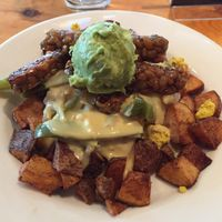 "Photo of Vertical Diner  by <a href=""/members/profile/LinnDaugherty"">LinnDaugherty</a> <br/>the mountain with ""bacon"" Guac and cheese <br/> February 19, 2017  - <a href='/contact/abuse/image/10637/228290'>Report</a>"