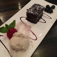 """Photo of Cafe Blossom - Upper West Side  by <a href=""""/members/profile/the.friendly.fig"""">the.friendly.fig</a> <br/>Vegan Chocolate Ganache w Soy Ice Cream <br/> August 13, 2016  - <a href='/contact/abuse/image/12172/168048'>Report</a>"""
