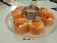 """Photo of Cafe Blossom - Upper West Side  by <a href=""""/members/profile/eric"""">eric</a> <br/>Sweet potato raw rolls <br/> May 21, 2013  - <a href='/contact/abuse/image/12172/48443'>Report</a>"""