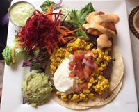 "Photo of Aux Vivres  by <a href=""/members/profile/clovely.vegan"">clovely.vegan</a> <br/>'Huevos' Rancheros.  <br/> February 6, 2016  - <a href='/contact/abuse/image/1377/135272'>Report</a>"