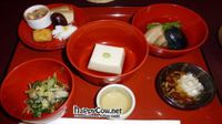 """Photo of Hachinoki  by <a href=""""/members/profile/Shauna333"""">Shauna333</a> <br/>Part of sakura set (November 2011) beans, goma dofu, simmered vegetables, mushrooms and salad with the plum wine <br/> June 1, 2012  - <a href='/contact/abuse/image/13870/32649'>Report</a>"""