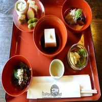 """Photo of Hachinoki  by <a href=""""/members/profile/Nihacc"""">Nihacc</a> <br/>Aperitif, black sesame tofu, vegetables, fresh yuba and jelly, aubergine, sweet potato, Japanese potato sweet, sweet tofu with nuts <br/> September 5, 2010  - <a href='/contact/abuse/image/13870/5729'>Report</a>"""