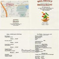 "Photo of Belmont Vegetarian Restaurant  by <a href=""/members/profile/HydrangeaCat"">HydrangeaCat</a> <br/>Belmont Vegetarian Restaurant Menu <br/> April 6, 2009  - <a href='/contact/abuse/image/17227/1729'>Report</a>"