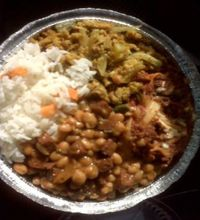 "Photo of Belmont Vegetarian Restaurant  by <a href=""/members/profile/nardanddee"">nardanddee</a> <br/>combo plate of beans/veggie ham, lasagna, curry <br/> October 23, 2011  - <a href='/contact/abuse/image/17227/202764'>Report</a>"