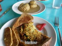 """Photo of Counter Culture  by <a href=""""/members/profile/eatyourveggies"""">eatyourveggies</a> <br/>Omelet, biscuits and gravy in the background. Brunch Sat/Sun 11-3 <br/> June 27, 2012  - <a href='/contact/abuse/image/18120/33845'>Report</a>"""