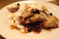 """Photo of Vegalite  by <a href=""""/members/profile/kezia"""">kezia</a> <br/>Wholemeal pancake with vegan whipped cream, maple syrup and forest fruits. Yummy! <br/> October 14, 2014  - <a href='/contact/abuse/image/18900/82934'>Report</a>"""