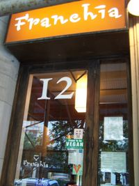 "Photo of Franchia Vegan Cafe  by <a href=""/members/profile/TrudiBruges"">TrudiBruges</a> <br/>Franchia (2010), NYC <br/> November 28, 2017  - <a href='/contact/abuse/image/2265/330140'>Report</a>"