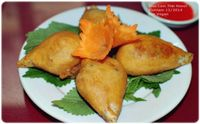 """Photo of Truc Lam Trai  by <a href=""""/members/profile/VanVeganHanoi"""">VanVeganHanoi</a> <br/> fried taro cakes <br/> February 14, 2016  - <a href='/contact/abuse/image/24108/136267'>Report</a>"""