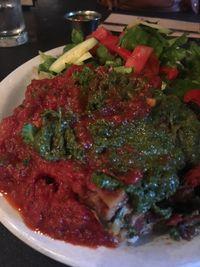 "Photo of Vita Cafe  by <a href=""/members/profile/Arthousebill"">Arthousebill</a> <br/>Vegan lasagna with pesto and marinara, salad <br/> July 10, 2016  - <a href='/contact/abuse/image/2434/158876'>Report</a>"