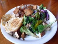"""Photo of Vita Cafe  by <a href=""""/members/profile/quarrygirl"""">quarrygirl</a> <br/>vita scramble: tofu, veggies, red onion, garlic and spinach <br/> December 27, 2011  - <a href='/contact/abuse/image/2434/190591'>Report</a>"""