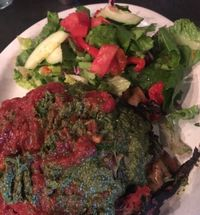 """Photo of Vita Cafe  by <a href=""""/members/profile/Arthousebill"""">Arthousebill</a> <br/>Lasagna with both sauces and a salad <br/> July 10, 2016  - <a href='/contact/abuse/image/2434/221678'>Report</a>"""