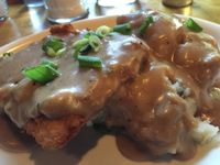 """Photo of Vita Cafe  by <a href=""""/members/profile/Veg4Jay"""">Veg4Jay</a> <br/>Chicken Fried Steak--Vegan <br/> July 10, 2017  - <a href='/contact/abuse/image/2434/278518'>Report</a>"""