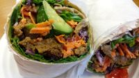 "Photo of Wildflower Earthly Vegan Fare  by <a href=""/members/profile/American%20Vegan"">American Vegan</a> <br/>seitan wrap <br/> June 26, 2016  - <a href='/contact/abuse/image/25282/156199'>Report</a>"
