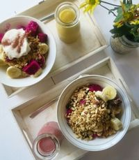 """Photo of Alchemy  by <a href=""""/members/profile/everydaysimplehealth"""">everydaysimplehealth</a> <br/>Make-Your-Own smoothie bowls <br/> November 27, 2016  - <a href='/contact/abuse/image/28110/195246'>Report</a>"""
