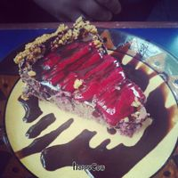 """Photo of Calactus Cafe  by <a href=""""/members/profile/QuothTheRaven"""">QuothTheRaven</a> <br/>Vegan chocolate raspberry cream pie <br/> June 27, 2013  - <a href='/contact/abuse/image/2916/50286'>Report</a>"""