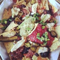 """Photo of Calactus Cafe  by <a href=""""/members/profile/QuothTheRaven"""">QuothTheRaven</a> <br/>Vegan nachos supreme <br/> September 14, 2014  - <a href='/contact/abuse/image/2916/79919'>Report</a>"""