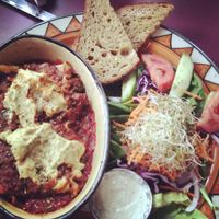 """Photo of Calactus Cafe  by <a href=""""/members/profile/QuothTheRaven"""">QuothTheRaven</a> <br/>Vegan lasagna <br/> September 14, 2014  - <a href='/contact/abuse/image/2916/79922'>Report</a>"""
