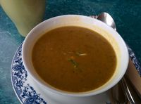 """Photo of Potala Organic Cafe  by <a href=""""/members/profile/MizzB"""">MizzB</a> <br/> Black Eye Peas mixed Veggie Soup <br/> December 8, 2016  - <a href='/contact/abuse/image/29240/198125'>Report</a>"""