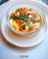 """Photo of Plant Life  by <a href=""""/members/profile/agnesrep"""">agnesrep</a> <br/>Tender vegetable soup with fresh chervil (raw vegan, warm soup)  <br/> May 22, 2012  - <a href='/contact/abuse/image/30261/32117'>Report</a>"""