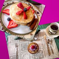 """Photo of The White Pig Bed and Breakfast  by <a href=""""/members/profile/clarebear9"""">clarebear9</a> <br/>Best pancakes ever! <br/> February 26, 2017  - <a href='/contact/abuse/image/30673/230871'>Report</a>"""
