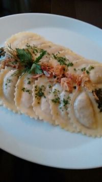 """Photo of Vaust Braugaststatte  by <a href=""""/members/profile/craigmc"""">craigmc</a> <br/>seitan ravioli  <br/> April 2, 2016  - <a href='/contact/abuse/image/32229/142323'>Report</a>"""