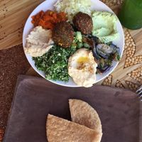 """Photo of Earth Cafe and Market - Ubud  by <a href=""""/members/profile/AliceClavier"""">AliceClavier</a> <br/>mediteranean plater  <br/> July 25, 2015  - <a href='/contact/abuse/image/32487/110871'>Report</a>"""