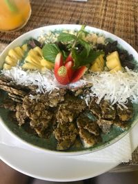 """Photo of Earth Cafe and Market - Ubud  by <a href=""""/members/profile/RossEcheverria"""">RossEcheverria</a> <br/>Spirulina saint bowl  <br/> April 1, 2018  - <a href='/contact/abuse/image/32487/379471'>Report</a>"""