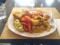 """Photo of Ops Cucina Mediterranea  by <a href=""""/members/profile/LAvegan24"""">LAvegan24</a> <br/>My HUGE plate <br/> June 26, 2015  - <a href='/contact/abuse/image/33562/107344'>Report</a>"""