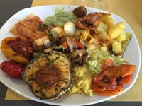 """Photo of Ops Cucina Mediterranea  by <a href=""""/members/profile/colleenbreen13"""">colleenbreen13</a> <br/>THE VEGAN MAC AND CHEESE AND GNOCCHI  <br/> June 6, 2017  - <a href='/contact/abuse/image/33562/266302'>Report</a>"""