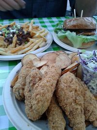 """Photo of Healthy Junk  by <a href=""""/members/profile/chobesoy"""">chobesoy</a> <br/>Fantastic junk: burger, chili fries and fish n chips! <br/> April 11, 2014  - <a href='/contact/abuse/image/34315/67422'>Report</a>"""