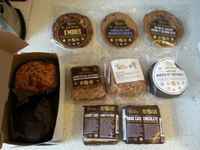 """Photo of Sweets from the Earth  by <a href=""""/members/profile/Vegan%20GiGi"""">Vegan GiGi</a> <br/>Veggielicious 2016 special! 10 nut-free desserts for $20. Sour cream coffee cake muffin, chocolate zucchini muffin, S'mores cookie, chocolate chip cookie, oatmeal raisin cookie, date square, apple pie square, whoopie pie, carrot cake, and chocolate fudge cake <br/> October 9, 2016  - <a href='/contact/abuse/image/34329/180816'>Report</a>"""