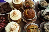 """Photo of VO2 Vegan Cafe  by <a href=""""/members/profile/StephanieKirkpatrick"""">StephanieKirkpatrick</a> <br/>rotating baked goods homemade by the owner, Mimi <br/> June 27, 2017  - <a href='/contact/abuse/image/34862/274151'>Report</a>"""