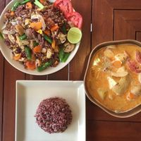 """Photo of Anchan Vegetarian Restaurant  by <a href=""""/members/profile/CiriGiada"""">CiriGiada</a> <br/>Curry (very spicy) /and fried rice with vegetable  <br/> November 9, 2016  - <a href='/contact/abuse/image/34920/187814'>Report</a>"""