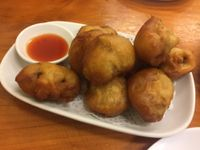 "Photo of Aunty Mena's  by <a href=""/members/profile/Tiggy"">Tiggy</a> <br/>Deep-fried mushrooms $7 - Delicious and fleshy  <br/> January 11, 2018  - <a href='/contact/abuse/image/3540/345251'>Report</a>"