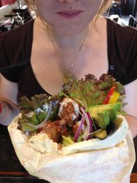 """Photo of CLOSED: Vespera's Falafel  by <a href=""""/members/profile/eiji"""">eiji</a> <br/>falafel wrap 650yen <br/> July 23, 2014  - <a href='/contact/abuse/image/36290/74800'>Report</a>"""