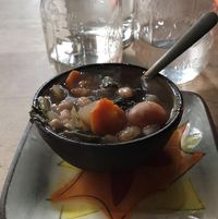 """Photo of Superfresh Organic Cafe  by <a href=""""/members/profile/vlovelace"""">vlovelace</a> <br/>vegetable white bean soup <br/> July 6, 2017  - <a href='/contact/abuse/image/36615/277206'>Report</a>"""