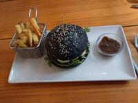 """Photo of Zombie Bar  by <a href=""""/members/profile/LeFunks"""">LeFunks</a> <br/>A different choice with a vegan burger but in a black bum that may be not even vegan <br/> May 3, 2016  - <a href='/contact/abuse/image/36777/147232'>Report</a>"""