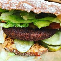 """Photo of Soi Soi  by <a href=""""/members/profile/TheVeganOne"""">TheVeganOne</a> <br/>Soy burger  <br/> April 3, 2018  - <a href='/contact/abuse/image/37473/380296'>Report</a>"""