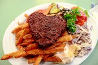 """Photo of Soi Soi  by <a href=""""/members/profile/SueClesh"""">SueClesh</a> <br/>hemp patty with sweet potato fries <br/> April 8, 2015  - <a href='/contact/abuse/image/37473/98246'>Report</a>"""