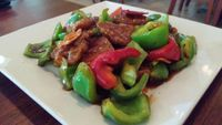 """Photo of CLOSED: Green Leaf Vegetarian Restaurant  by <a href=""""/members/profile/Gizzykat"""">Gizzykat</a> <br/>vegan orange 'chicken' <br/> August 19, 2014  - <a href='/contact/abuse/image/37620/77516'>Report</a>"""