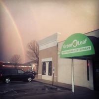 """Photo of CLOSED: Green Leaf Vegetarian Restaurant  by <a href=""""/members/profile/eleutheromaniac"""">eleutheromaniac</a> <br/>Front view of Green Leaf // Rainbow <br/> November 12, 2014  - <a href='/contact/abuse/image/37620/85329'>Report</a>"""