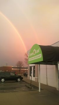 """Photo of CLOSED: Green Leaf Vegetarian Restaurant  by <a href=""""/members/profile/eleutheromaniac"""">eleutheromaniac</a> <br/>Front view // double rainbow <br/> November 12, 2014  - <a href='/contact/abuse/image/37620/85333'>Report</a>"""