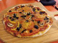 """Photo of De Vegetarische Snackbar  by <a href=""""/members/profile/Gudrun"""">Gudrun</a> <br/>Vegan pizza in 'De Vegetarische Pizzeria' <br/> January 31, 2016  - <a href='/contact/abuse/image/37902/134300'>Report</a>"""