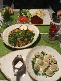 """Photo of Vegafe - Totoriu g.  by <a href=""""/members/profile/SuzyJones"""">SuzyJones</a> <br/>pea dumplings, carrot and squash salad, cheese steak <br/> August 14, 2017  - <a href='/contact/abuse/image/39160/292636'>Report</a>"""