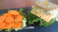 "Photo of CLOSED: Dr. J's Vibrant Cafe  by <a href=""/members/profile/eric"">eric</a> <br/>Alfalfa patty burger with raw carrot chips <br/> July 14, 2013  - <a href='/contact/abuse/image/39709/51243'>Report</a>"