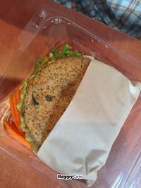 "Photo of CLOSED: Dr. J's Vibrant Cafe  by <a href=""/members/profile/NomNomNominator"">NomNomNominator</a> <br/>Home made gluten free raw bread and avocados in my sandwich. 