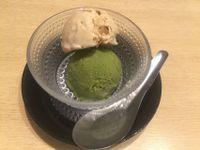 "Photo of Komaki Syokudo - Kamakura Fushikian  by <a href=""/members/profile/Tiggy"">Tiggy</a> <br/>White sesame ice cream and green tea ice cream (vegan) - July 2015 <br/> July 27, 2015  - <a href='/contact/abuse/image/40326/111250'>Report</a>"