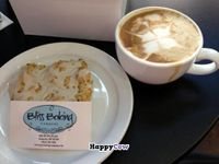 """Photo of CLOSED: Bliss Baking Company  by <a href=""""/members/profile/VegFriends"""">VegFriends</a> <br/>Vegan Lemon-Poppyseed Scone with a soy latte'. Excellent! <br/> August 8, 2013  - <a href='/contact/abuse/image/40699/52968'>Report</a>"""