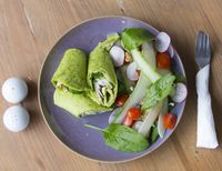 """Photo of Zenith Yoga Cafe  by <a href=""""/members/profile/Zenith%20Yoga%20Vietnam"""">Zenith Yoga Vietnam</a> <br/>Spinach Roll with fresh Veggies & Feta Cheese <br/> May 16, 2016  - <a href='/contact/abuse/image/41001/149403'>Report</a>"""
